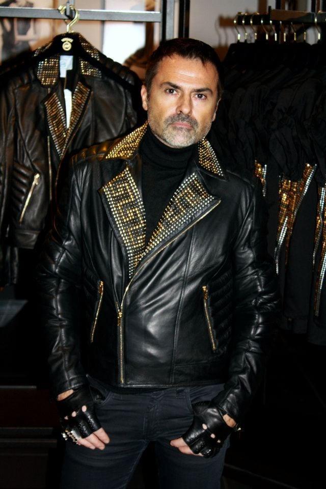 Veste cuir versace homme