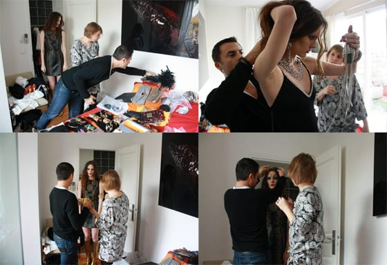 backstage shooting au feminin.com special Noel 2011