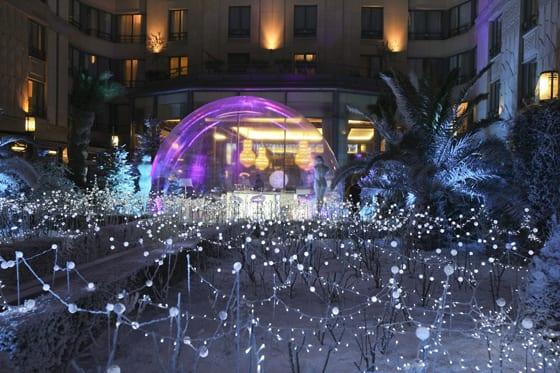 Bubble bar Taittinger Hotel Hilton Paris