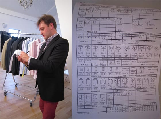 fiche de mensurations The French Tailor.com Photo Corinne Jeammet