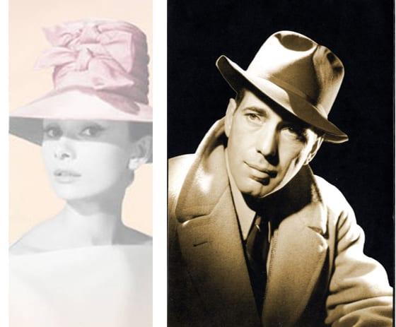 Audrey Hepburn et Humphrey Bogart