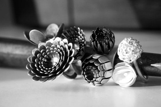 Bagues collection A Fleurs de peau Andrea Vaggione