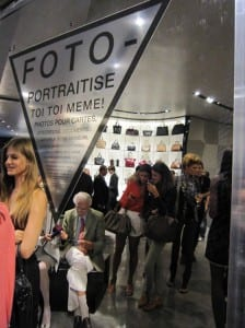 Photomatons  chez Emporio Armani