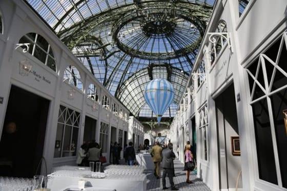 Vue de la biennale au Grand Palais