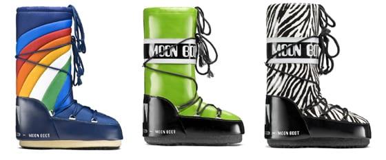 moon boots par Tecnica_ rainbow_blu vinil_verde acido nero - Savana_nero bianco