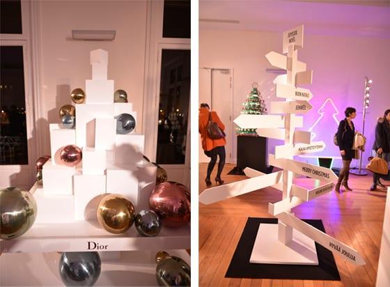 Sapins Dior et Maison Martin Margiela