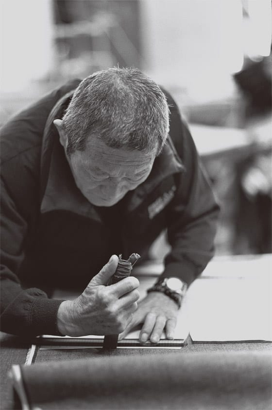 techniques artisanales du travail du denim