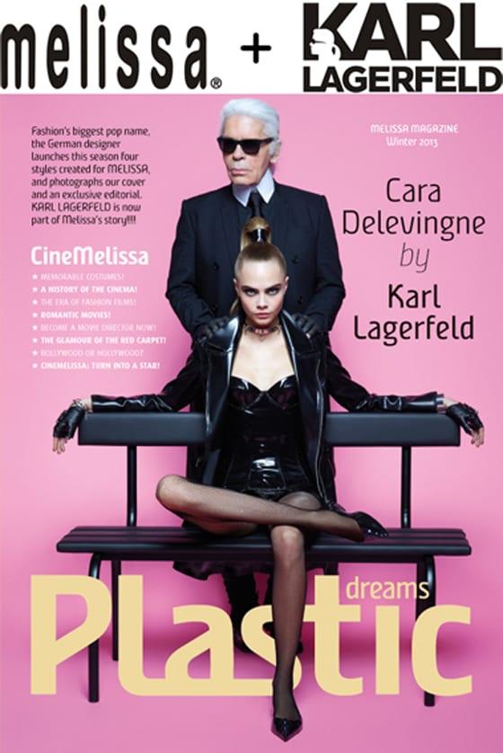 Melissa_Cara Delevingne et Karl Lagerfeld