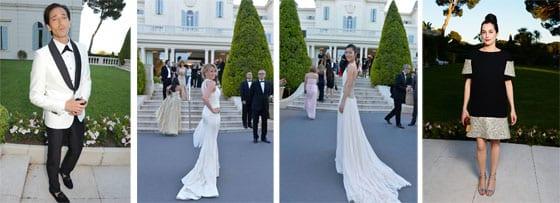 Adrien_Brody_ Ludivien Sagnier_ Liu Wen en Roberto Cavalli et Amira Casar en Chanel
