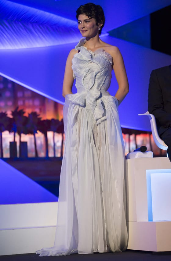 Audrey Tautou wears Yiqing Yin - 66th Cannes Film Festival