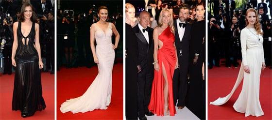 Irina Shayk, Kylie Minogue, Sharon Stone en Roberto Cavalli et Jessica Chastin en Versace