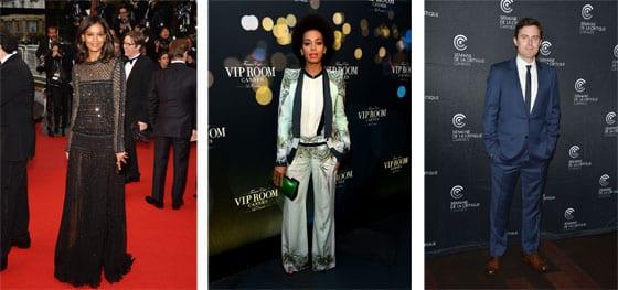 Liya Kebede et Solange Knowles en Roberto Cavalli_ Casey Affleck en Dior Homme