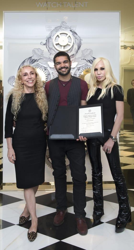 Franca Sozzani, Adrian Nebel et Donatella Versace