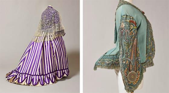 """Robe de jour de la Princesse Simone et """"visite"""" de la Princesse Mathilde_ exposition Folie Textile"""