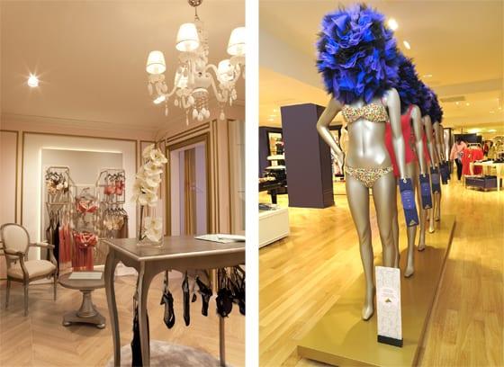 espace lingerie des Galeries Lafayette par Stella Cadente