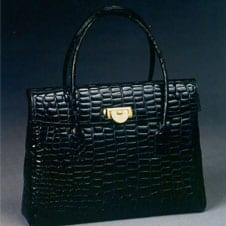 Sac Trotter en crocodile POURCHET 1950