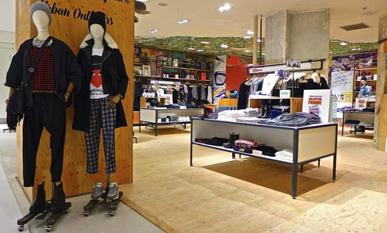 Stand Urban Outfitters aux Galeries Lafayette Automne Hiver 2013-14