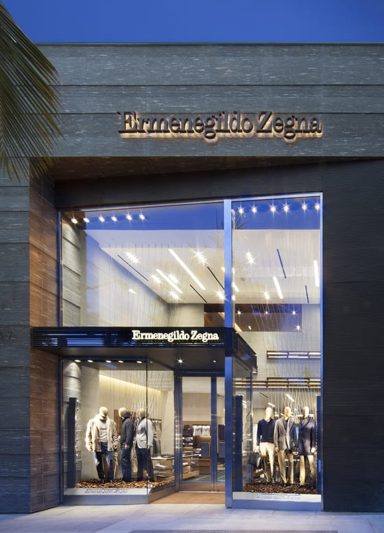 337 North Rodeo Drive vue exterieur boutique Ermenegildo Zegna