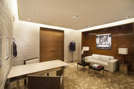 Boutique Ermenegildo Zegna Rodeo drive Luxury Room