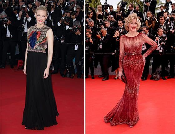 Cate Blanchett en Givenchy by Riccardo Tisci et Jane Fonda en Elie Saab