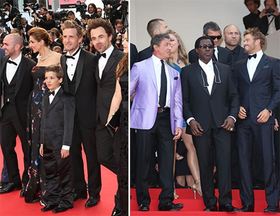 l'équipe du film Babysitting -L'acteur et réalisateur Thierry de PERETTI - Jimmy JEAN LOUIS -Jacky IDO et l' acteur Wesley SNIPES  du film EXPENDABLES - en Francesco Smalto