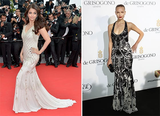 Aishwarya Rai in Roberto Cavalli @ The Search -Natasha Poly in Roberto Cavalli @ De Grisogono party 2014-05-20 Cannes