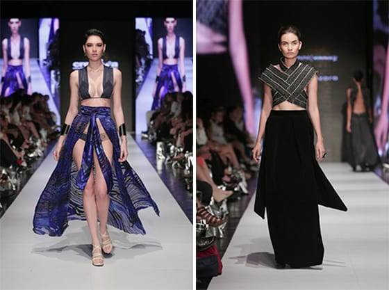 Tania Azara is from U Veritas  Carolina Rojas is from U Creativa- Fashion-week San José 2014