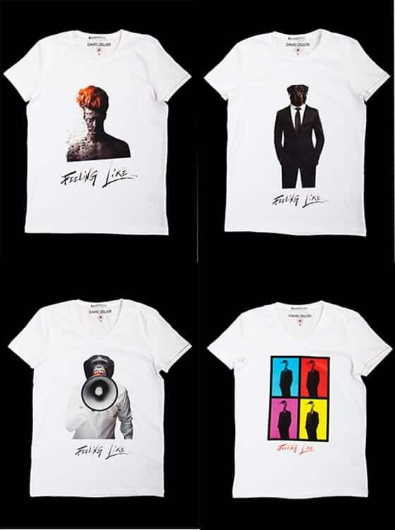 T-shirts David Zeller-Feeling Like-Homme
