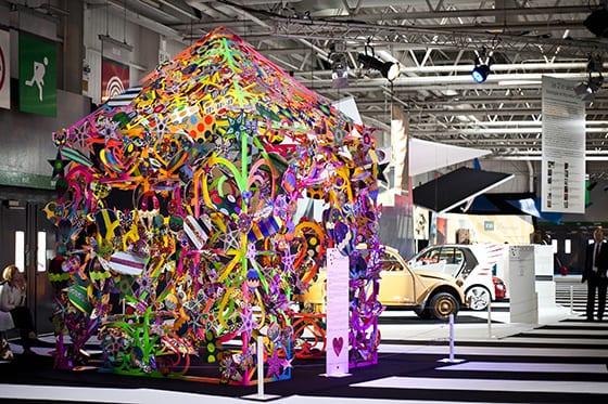 Installation Manish Arora pour Alcantara Salon de l'Auto 2014
