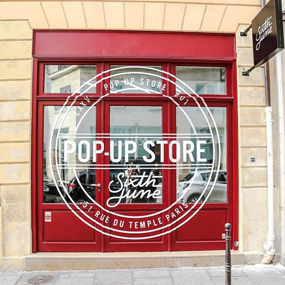 Sixth June_Pop Up Store_Paris