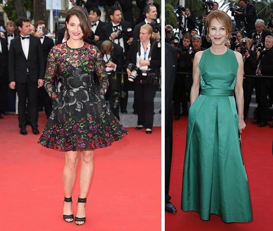 Cannes_2015-Marie_Gillain_en_Elie_Saab_et_Nathalie_Baye_en _Martin_grant