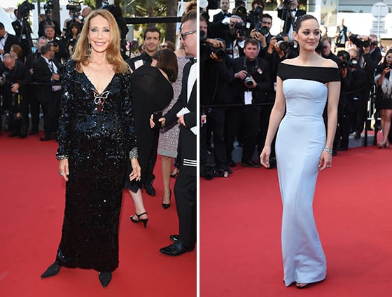 Cannes_2015-Marisa_Berenson_et_Marion_Cotillard_en Dior_Guetty_Images