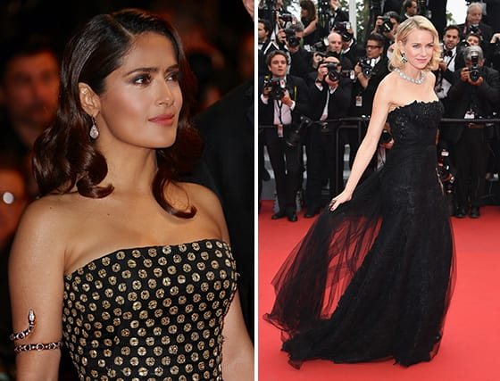 Cannes_2015-Salma_Hayak-Pinault-bijoux_Boucheron_et_Naomi_Watts_bijoux_Bvlgari