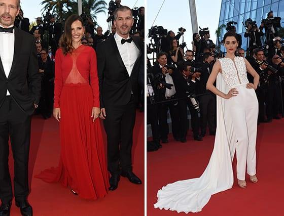 Cannes_2015_Lambert_Wilson _en_Dior_Homme_Virginie_Ledoyen_en _Georges_Hobeika_Cansu_Dere_En Georges_Hobeika