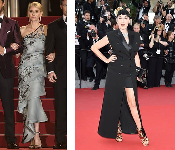 Cannes_2015_Naomie_Watts_en_Giorgio_Armani_et Rosy_de_palma-En Jean_Paul_Gaultier_chaussures_Giuseppe_Zanotti