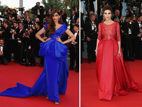 Cannes_2015_Sonam_Kapoor_en_Ralph_&_Russo_et_NEGIN_MIRSALEHI_en_Georges_Hobeika_et_bijoux_Boucheron