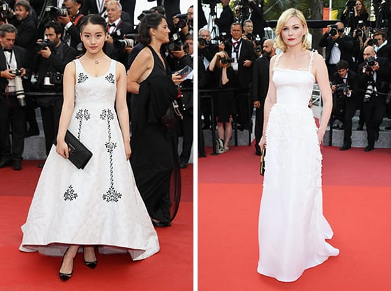 Xinxin_et_Kirsten_Dunst_en Christian_Dior_Cannes_2016_©_Getty_images