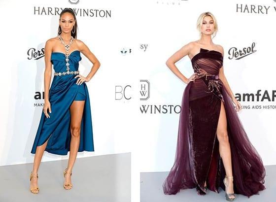 Cannes_2017_Gala_amfAR_JOAN_SMALLS_et_HAILEY_BALDWIN_en _Elie_Saab