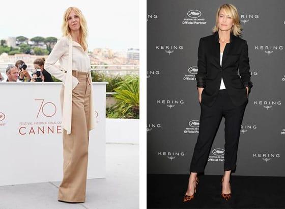 Cannes_2017_Sandrine_Kiberlain_en Chloe_et_Robin_Wright_en_Stella_McCartney