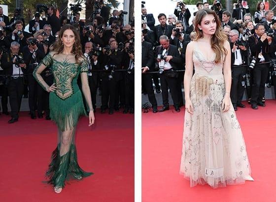 Frederique_Bel en Yanina_Couture_et_Thylane_Blondeau_en Dior