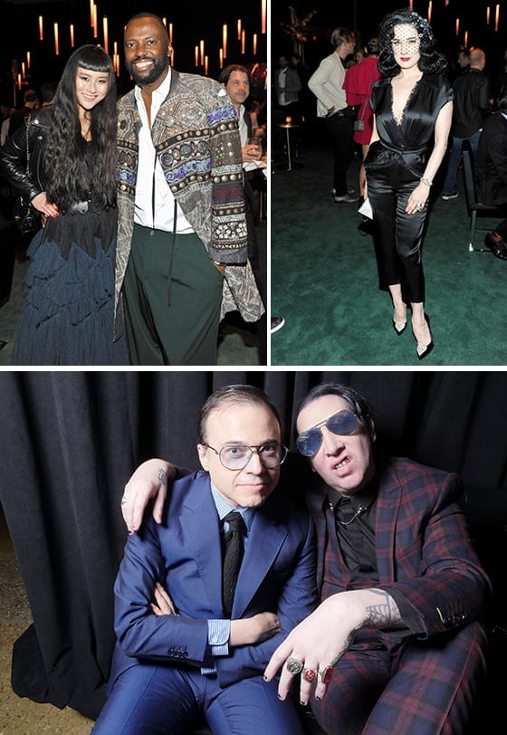 Soiree_panthere_de_Cartier_2017_Asia_Chow_et_Stephen_Galloway_Dita_Von_Teese_Bertrand_Burgalat_et_Marilyn_Manson_©_Donato_Sardella_Getty Images_for_Cartier