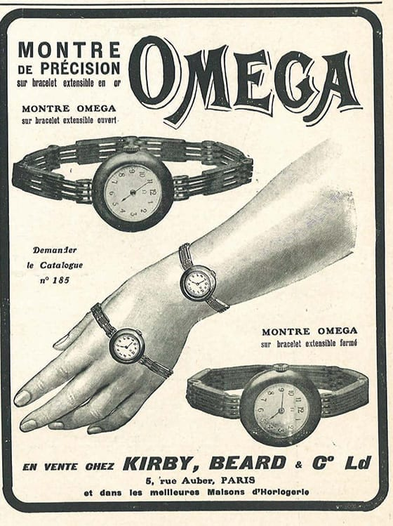 1908_advertisement_OMEGA_from_Kirby_Beard_&_Co_Paris