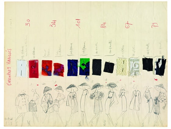 Yves_Saint_Laurent_planche-de_collection_ete_1962