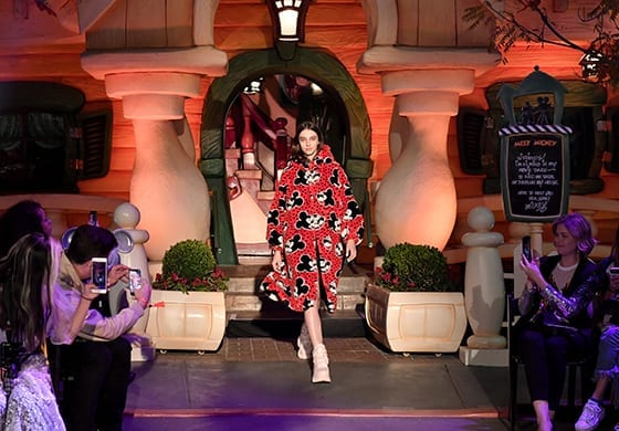 """Disney kicks off """"Mickey the True Original"""" campaign in celebration of Mickey's 90th anniversary with a fashion show at Disneyland featuring a Mickey-inspired collection by Opening Ceremony Photo by Neilson Barnard/Getty Images for Disney"""