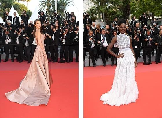 Cannes_2018_Bella_Haddid_et_Lupita_NyongoY en Dior