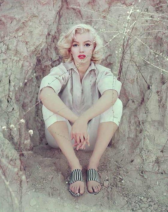 Marilyn Monroe, The Rock Sitting, Los Angeles, 1953 © Milton Greene, courtesy Galerie de L'Instans, Paris