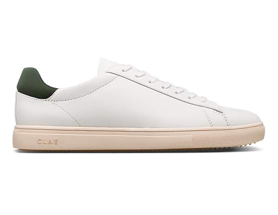 CLAE_BRADLEY_WHITE_OLIVE_VEGAN_LEATHER