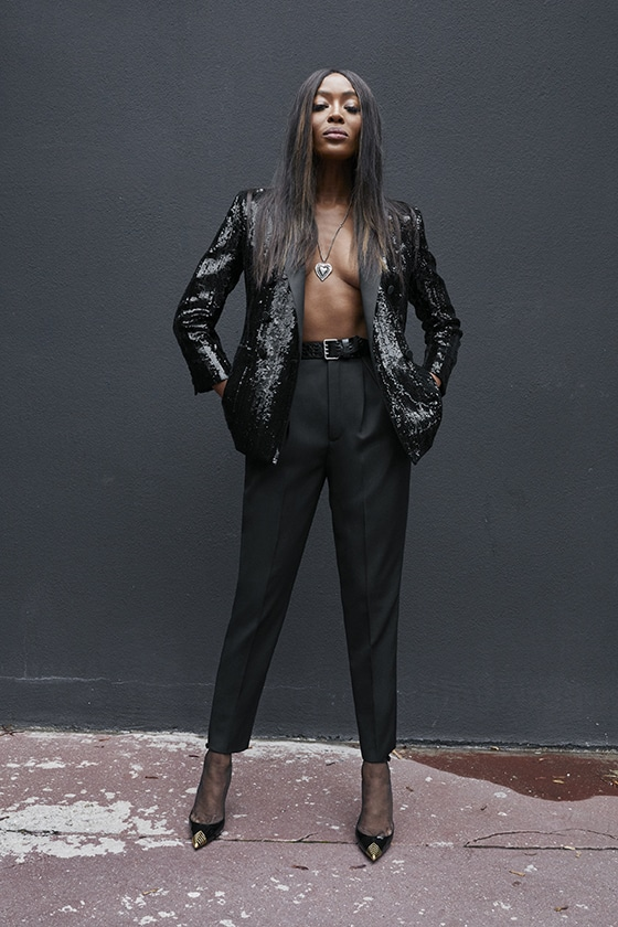 SAINT_LAURENT_Paris_SS_2020_SMOKING_Naomi_Campbell