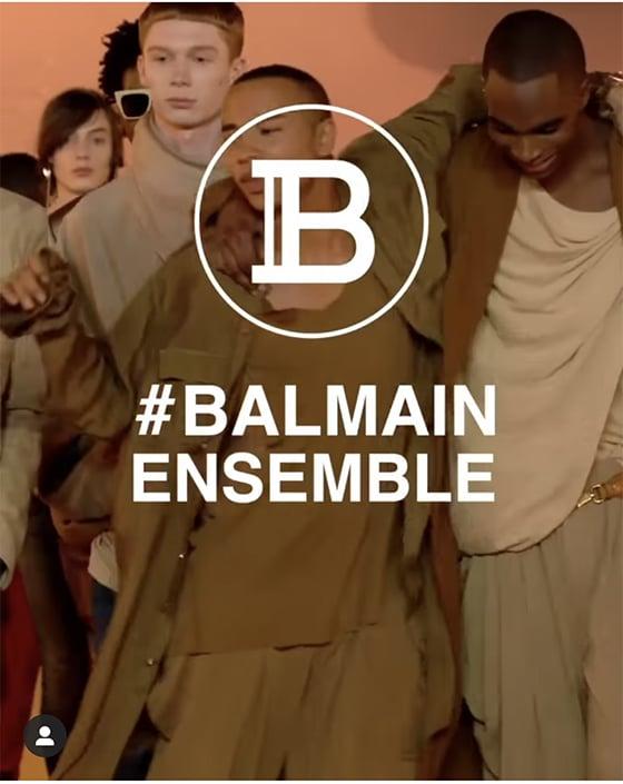 Balmain_ensemble_Covid-19_©_instagram_Balmain